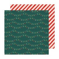 Crate Paper - Busy Sidewalks Collection - Christmas - 12 x 12 Double Sided Paper - Holiday Glow