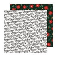 Crate Paper - Busy Sidewalks Collection - 12 x 12 Double Sided Paper - Christmas Greetings