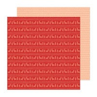 Crate Paper - Busy Sidewalks Collection - Christmas - 12 x 12 Double Sided Paper - Sweater Weather