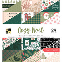 Die Cuts with a View - Cozy Noel Collection - 6 x 6 Double Sided Paper Stack - Gold Foil Accents