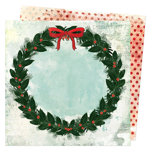 Vicki Boutin - Warm Wishes Collection - Christmas - 12 x 12 Double Sided Paper - Holiday Wishes