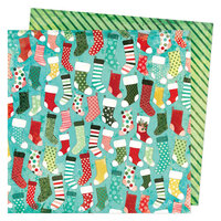 Vicki Boutin - Warm Wishes Collection - Christmas - 12 x 12 Double Sided Paper - Stockings