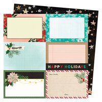 Vicki Boutin - Warm Wishes Collection - Christmas - 12 x 12 Double Sided Paper - Happy Holidays