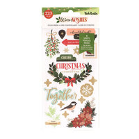 Vicki Boutin - Warm Wishes Collection - Christmas - Sticker Book With Champagne Gold Foil Accents