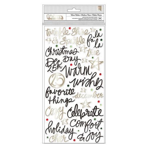 Vicki Boutin - Warm Wishes Collection - Christmas - Thickers - Phrases - Champagne Gold Foil Accents