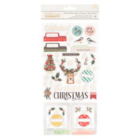 Vicki Boutin - Warm Wishes Collection - Christmas - Thickers - Phrases and Icons - Champagne Gold Foil Accents