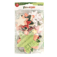 Vicki Boutin - Warm Wishes Collection - Christmas - Chipboard Stickers - Stars and Hearts