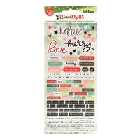 Vicki Boutin - Warm Wishes Collection - Christmas - Embossed Puffy Stickers
