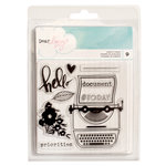 American Crafts - Documentary Collection - Clear Acrylic Stamps - Small Set