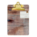 American Crafts - Mini Clipboard - 5 x 7 - Woodgrain