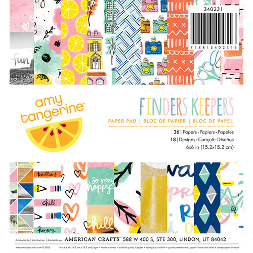 American Crafts - Finders Keepers Collection - 6 x 6 Paper Pad
