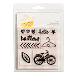 American Crafts - Amy Tangerine Collection - Finders Keepers - Clear Acrylic Stamps - Small Set
