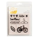 American Crafts - Finders Keepers Collection - Clear Acrylic Stamps - Small Set
