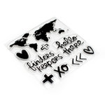 American Crafts - Finders Keepers Collection - Clear Acrylic Stamps - Map
