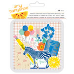 American Crafts - Amy Tangerine Collection - Finders Keepers - Die Cut Acetate Pieces with Foil Accents - Ephemera