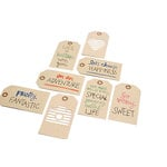American Crafts - Finders Keepers Collection - Embroidered Tags - Kraft