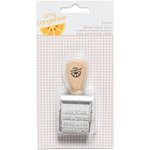 American Crafts - Amy Tangerine Collection - Finders Keepers - Rotary Phrase Stamp