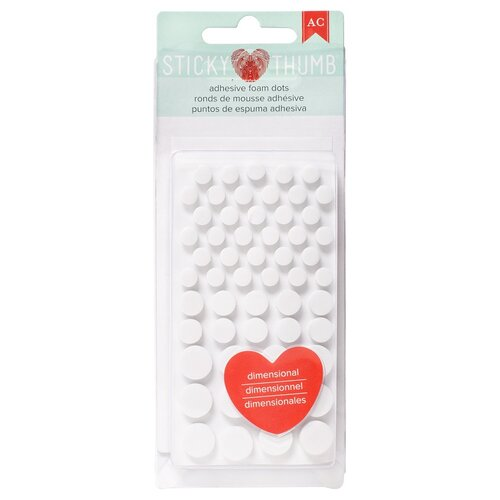 American Crafts - Adhesives - Dimensional Foam - Sticky Thumb - Dots