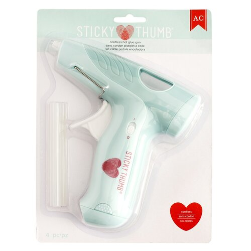 American Crafts - Adhesives - Glue Gun - Sticky Thumb - Cordless Hot Glue Gun