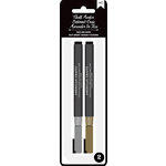 American Crafts - Wet-Erasable Chalk Markers - Gold and Silver