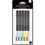 American Crafts - Wet-Erasable Chalk Markers - Pastels - 5 Pack