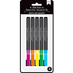 American Crafts - Wet-Erasable Chalk Markers - Brights - 5 Pack