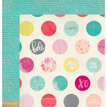 American Crafts - Dear Lizzy Collection - Documentary - 12 x 12 Double Sided Paper - Confetti