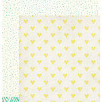 American Crafts - Dear Lizzy Collection - Documentary - 12 x 12 Double Sided Paper - Hello Love