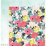 American Crafts - Dear Lizzy Collection - Documentary - 12 x 12 Double Sided Paper - Fancy Free