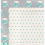 American Crafts - Dear Lizzy Collection - Documentary - 12 x 12 Double Sided Paper - Snail Mail