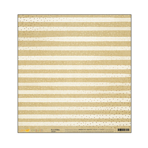 American Crafts - Finders Keepers Collection - 12 x 12 Kraft Paper with Foil Accents - One in a Million