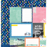 American Crafts - Amy Tangerine Collection - Finders Keepers - 12 x 12 Double Sided Paper - Roundabout