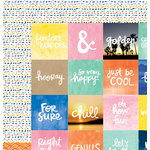 American Crafts - Amy Tangerine Collection - Finders Keepers - 12 x 12 Double Sided Paper - Quest