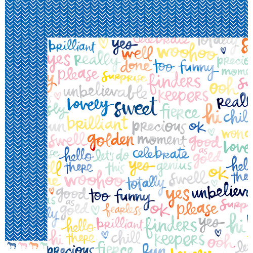 American Crafts - Finders Keepers Collection - 12 x 12 Double Sided Paper - Treasure