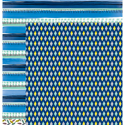 American Crafts - Finders Keepers Collection - 12 x 12 Double Sided Paper - Seeker