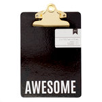 American Crafts - Mini Clipboard - 5 x 7 - Awesome