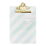 American Crafts - Mini Clipboard - 5 x 7 - Diagonal Stripes