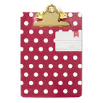 American Crafts - Mini Clipboard - 5 x 7 - Polka Dots