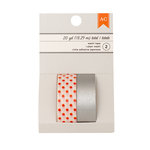American Crafts - Halloween Collection - Washi Tape - Silver Foil - Orange Dots and Silver
