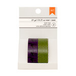 American Crafts - Halloween Collection - Washi Tape - Black Cats and Mint Checker