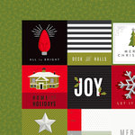 American Crafts - Deck the Halls Collection - Christmas - 12 x 12 Double Sided Paper - Snowflake Lane