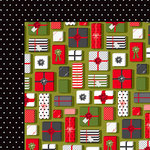 American Crafts - Deck the Halls Collection - Christmas - 12 x 12 Double Sided Paper - Christmas Morning