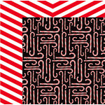 American Crafts - Deck the Halls Collection - Christmas - 12 x 12 Double Sided Paper - Candy Cane Lane
