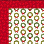 American Crafts - Deck the Halls Collection - Christmas - 12 x 12 Double Sided Paper - I'll Be Home