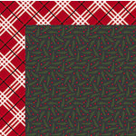 American Crafts - Deck the Halls Collection - Christmas - 12 x 12 Double Sided Paper - Boughs Of Holly