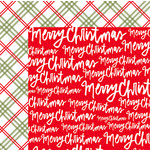 American Crafts - Deck the Halls Collection - Christmas - 12 x 12 Double Sided Paper - Merry Christmas