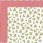 American Crafts - Deck the Halls Collection - Christmas - 12 x 12 Double Sided Paper - Holly Jolly