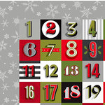 American Crafts - Deck the Halls Collection - Christmas - 12 x 12 Double Sided Paper - Advent Avenue