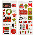 American Crafts - Deck the Halls Collection - Christmas - Cardstock Stickers - 'Tis The Season