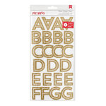 American Crafts - Deck the Halls Collection - Christmas - Glitter Stickers - Alphabet - Gold